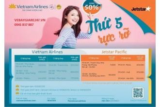 """KHUYẾN MÃI CỰC SỐC VỚI  """"Thứ 5 rực rỡ"""" của hãng Vietnam Airlines"""